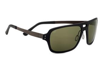 Serengeti Nunzio Single Vision Prescription Sunglasses, Satin Black Frame-7837SV
