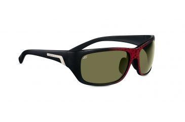 Serengeti Orvieto Sunglasses - Shiny Red Granite Frame, Polar PhD 555nm Lenses 7619