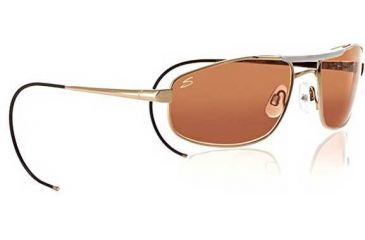 1-Serengeti Pilot 1 Aviator Sunglasses 7161 - Gold/Bone Frame, Drivers Lenses