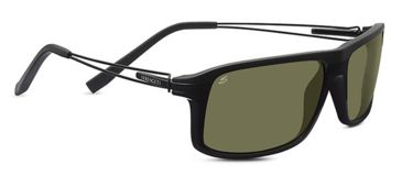Serengeti Rivoli Progressive Prescription Sunglasses, Satin Black/Silver Frame-7916PR