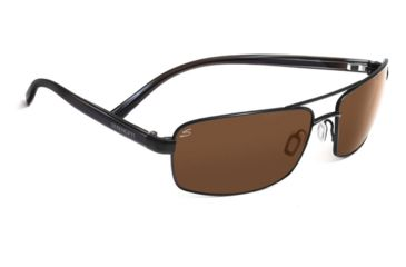 Serengeti San Remo Single Vision Prescription Sunglasses, Satin Black/Grey Stripe Frame-7605SV