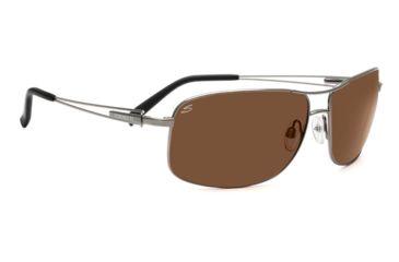 Serengeti Sassari Single Vision Prescription Sunglasses, Shiny Gunmetal Frame-7666SV