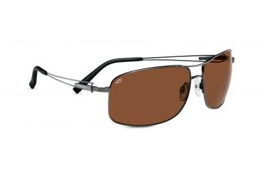 Serengeti Assisi Sunglasses - Satin Crystal Smoke Fade Frame, Polar PhD Drivers Lenses 7612
