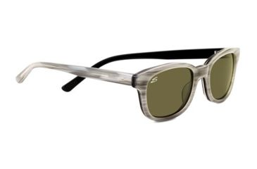 Serengeti Serena Sunglasses - Crème Stripe Black Frame and Polarized 555nm Lens 7778