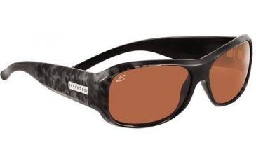 Serengeti Savona Sunglasses, Black Leopard Frame, Drivers Lens 7261