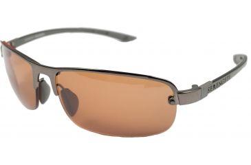 Serengeti Strato Sunglasses-Shiny Dark Gunmetal Frame Polar PhD Drivers Lenses 7682