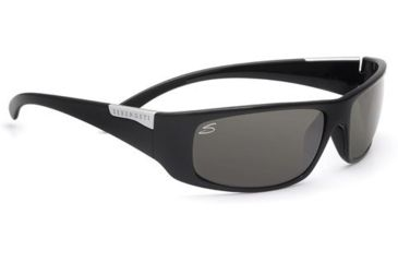Serengeti Fasano Sunglasses, Shiny Black Frame, Polarized PhD CPG Lens 7394