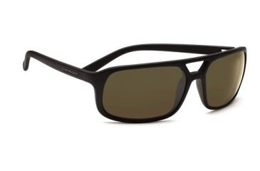 Serengeti Livorno, Satin Black Frame, 555nm Polarized Lens, 7454