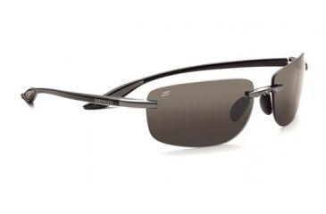 Serengeti Rololare Single Vision Prescription Sunglasses, Shiny Black Frame-7477SV
