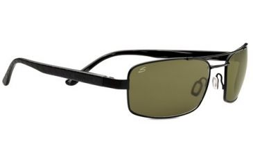 Serengeti Tosca Sunglasses - Satin Black/Black Tortoise Laser Frame and Polar PhD 555nm Lens 7797