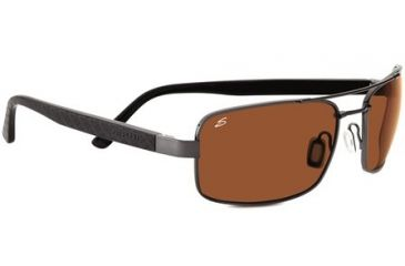 Serengeti Tosca Sunglasses - Shiny Gunmetal/Solid Black Laser Frame and Polar PhD Drivers Lens 7796