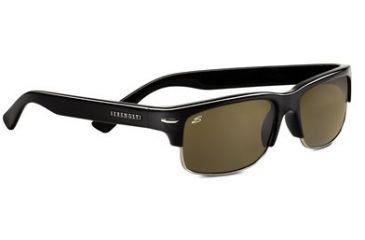 Serengeti Vasio Single Vision Rx Sunglasses - Shiny Black Frame 7373