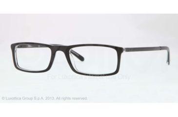Sferoflex SF1139 Eyeglass Frames C548-51 - Black On Trasparent Frame