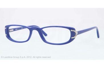 Sferoflex SF1550 Single Vision Prescription Eyeglasses C567-51 - Blue Frame, Demo Lens Lenses