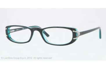Sferoflex SF1550 Eyeglass Frames C568-53 - Black Frame, Demo Lens Lenses