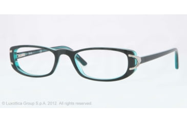 Sferoflex SF1550 Single Vision Prescription Eyeglasses C568-53 - Black Frame, Demo Lens Lenses