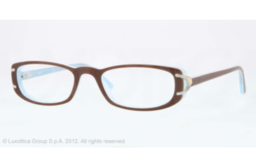 Sferoflex SF1550 Single Vision Prescription Eyeglasses C570-51 - Brown Top On Opalin Azure Frame, Demo Lens Lenses