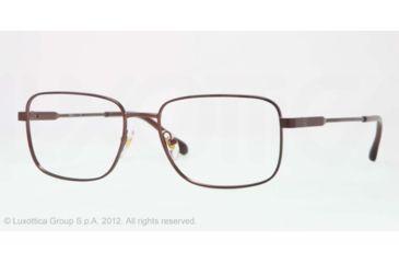 Sferoflex SF2257 Eyeglass Frames 355-53 - Matte - Dark Brown Frame, Demo Lens Lenses