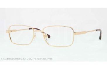 Sferoflex SF2258 Single Vision Prescription Eyeglasses 108-54 - Gold Frame, Demo Lens Lenses