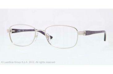 Sferoflex SF2570 Progressive Prescription Eyeglasses 491-52 - Shiny Silver Frame, Demo Lens Lenses