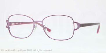 Sferoflex SF2572 Eyeglass Frames 494-52 - Shiny Plum Frame, Demo Lens Lenses