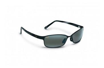 Maui Jim Shoreline Sunglasses w/ Gloss Black Frame and Neutral Grey Lenses - 114-02, Quarter View