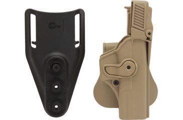 SigTac Retention Roto Paddle Holster, Level 3, Glock 17, 22, 31, 34, 35 Tan 110114