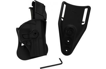 SigTac Retention Roto Paddle Holster, USP Compact 9mm/40 LEVEL 3 Black 110139