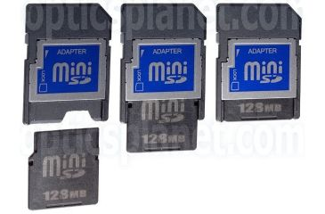 Silicon Power 128MB MiniSD Memory Card with Adaptor