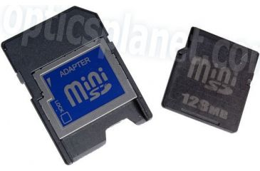 Silicon Power 128MB MiniSD Memory Card with Adaptor (sample)