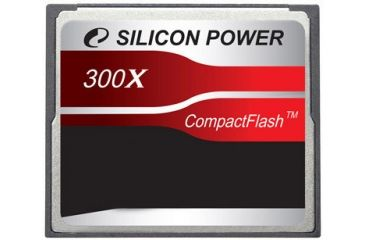 Silicon Power Compact Flash 300X Hi-Speed 2GB Memory Card SP002GBCFC300V10