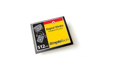 SimpleTech Compact Flash 24X 512MB Type I Card