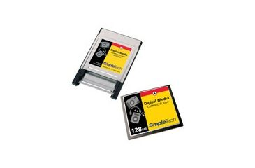 SimpleTech Compact Flash 128MB Card w/ PC Card Adaptor
