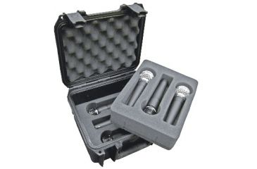 SKB Cases Injection Molded Microphone Case, 6 Mics, Black 3I-0907-MC6