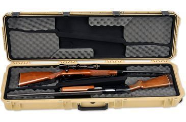 SKB Cases iSeries 5014 Double Rifle Case, Tan, 53 1/8 x 17 1/4 x 7 3i-5014-DR-T
