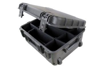 SKB Cases Mil-Std Waterproof Case 8in. Deep w/ wheels and pull handle - dividers