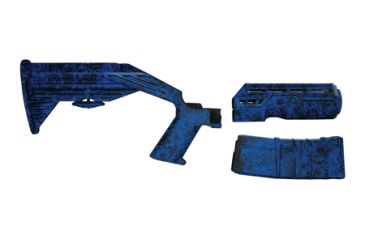 Slide Fire Solutions SSAR-15 OGR Hydro-Dipped AR-15 Kit Ed Hardy Blue Right Hand