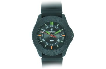 Smith and Wesson Military and Police Watch, 43mm, Black/Black SWW-MP18-BLK