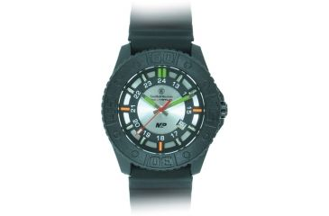 Smith and Wesson Military and Police Watch, 43mm, Black/Silver SWW-MP18-GRY