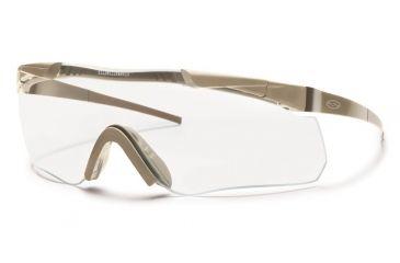 Smith Elite Aegis Echo Asian Fit Eyeshields, Tan 499 Frame, Clear/Gray Lens AECHAT49912A-2R