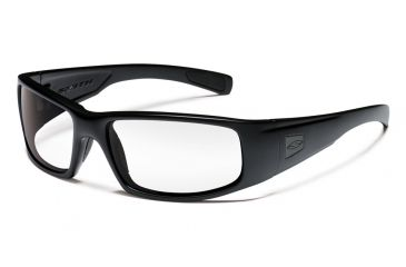 Smith Elite Hideout Tactical Sunglasses with Black Frames and Clear Lenses HDTPCCL22BK