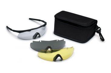 Smith Elite Aegis Asian Fit Eye Shield Deluxe Kit, Black frame, Clear, Gray & Yellow Lenses
