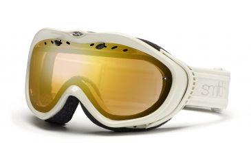 Smith Anthem Goggles, Ivory Bristol, Gold Sensor Mirror AN6GMIB11