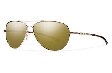 fb91215659 Smith Optics Audible Sunglasses Gold Polar Bronze Mirror ChromaPop Lenses  ABRPBZMSGD