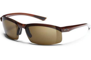 Smith Optic Baseline Square Sunglass - Dark Ale Frames, Polarized Brown Lenses