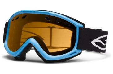 Smith Optics Cascade (New) Goggles - Cyan Frame, Gold Lite Lenses CS3LCY12
