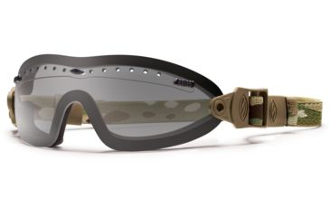 Smith Optics Elite Boogie Sport Asian Fit Goggle, Multicam Strap, Gray BSPMCGY13A