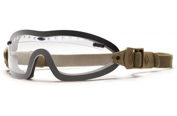 Smith Optics Elite Boogie Sport Asian Fit Goggle, Tan 499 Strap, Clear BSPT499CL13A