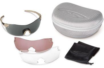 Smith Optics Elite Pivlock V2 Tactical Sunglasses, Tan 499, Gray, Clear, Ignitor PVTPCGYIGT499