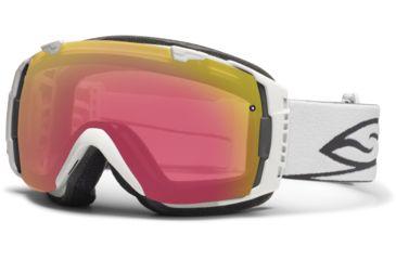 Smith Optics I/O Snow Goggles - White Frame w/ Blackout and Red Sensor Lens IO7BKWT13